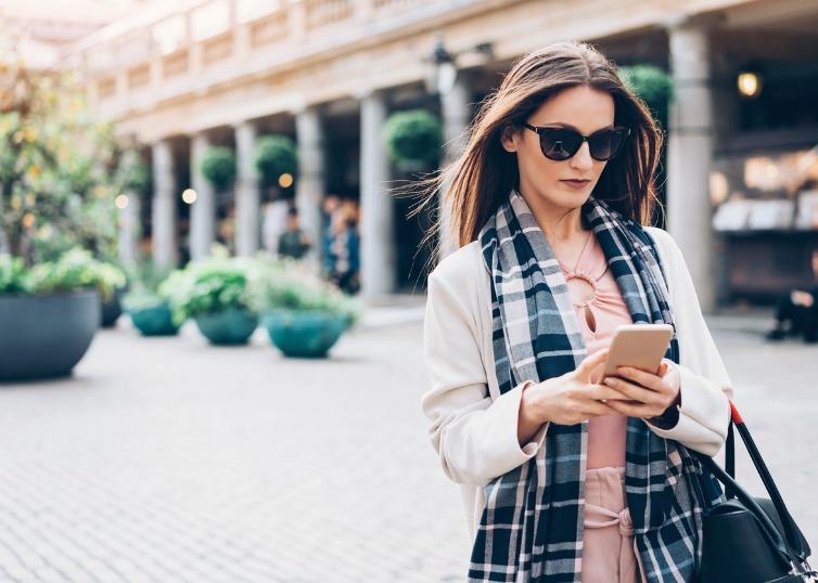 luxury buyer on social media