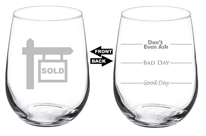 wine glass real estate sold sigh