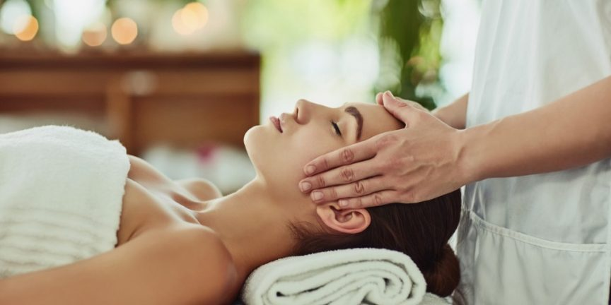 woman getting luxury massage