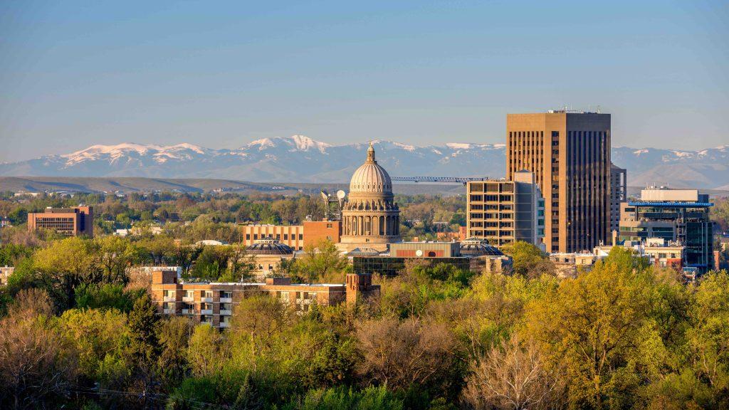 Boise Idaho city landscape