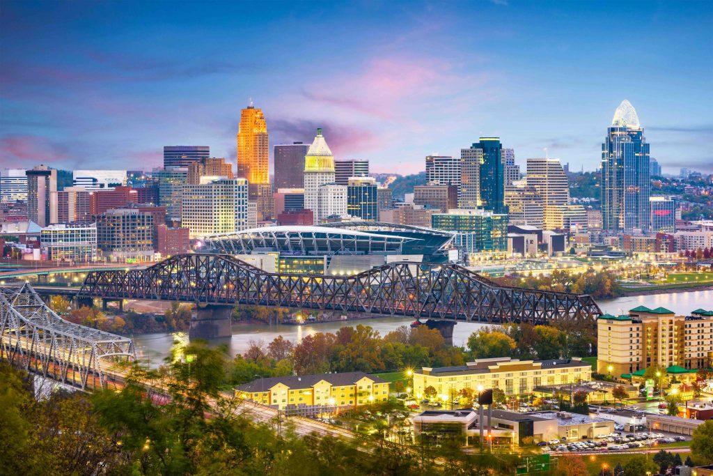 Cincinnati city high rises landscape