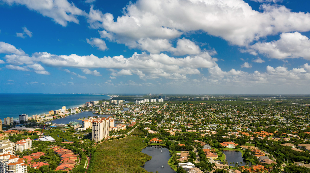 Fort Lauderdale city scape by the sea