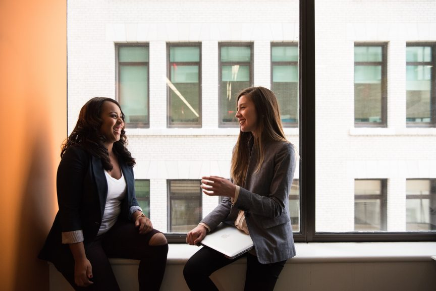 2 women building a client relationship with each other